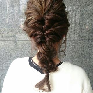セミロング 簡単ヘアアレンジ ハーフアップ ナチュラル ヘアスタイルや髪型の写真・画像 ヘアスタイルや髪型の写真・画像
