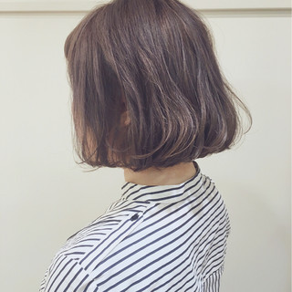 ストリート 外国人風カラー ボブ ワンカール ヘアスタイルや髪型の写真・画像