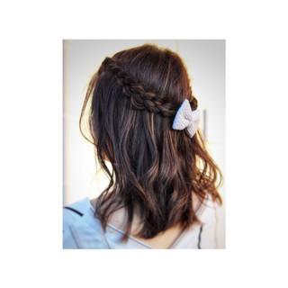 簡単ヘアアレンジ デート ナチュラル オフィス ヘアスタイルや髪型の写真・画像