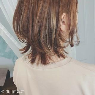 デート グラデーションカラー ハイライト ボブ ヘアスタイルや髪型の写真・画像