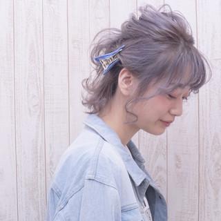 ミルクティー ボブ ガーリー 透明感 ヘアスタイルや髪型の写真・画像