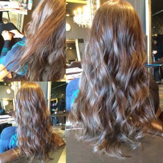 ロング モード ストリート 暗髪 ヘアスタイルや髪型の写真・画像