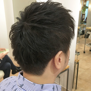 黒髪 ショート ストリート ツーブロック ヘアスタイルや髪型の写真・画像
