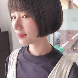 ミニボブ アンニュイほつれヘア 大人かわいい ボブ ヘアスタイルや髪型の写真・画像