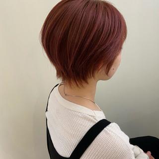 ショートヘア ピンク ショート ベリーショート ヘアスタイルや髪型の写真・画像