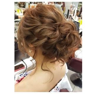 エレガント ヘアアレンジ 上品 結婚式 ヘアスタイルや髪型の写真・画像 ヘアスタイルや髪型の写真・画像