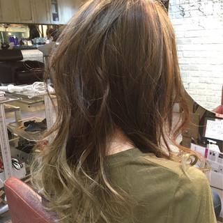 ストリート グラデーションカラー ロング 外国人風 ヘアスタイルや髪型の写真・画像