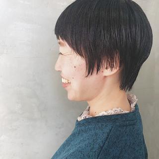 簡単スタイリング 似合わせカット ベリーショート ナチュラル ヘアスタイルや髪型の写真・画像