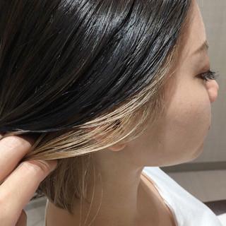 インナーカラー 美髪 ミルクティーベージュ ストリート ヘアスタイルや髪型の写真・画像