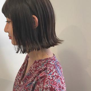 黒髪 ハイライト 外ハネ 秋 ヘアスタイルや髪型の写真・画像