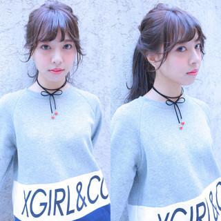 ストリート 外国人風 ピュア セミロング ヘアスタイルや髪型の写真・画像