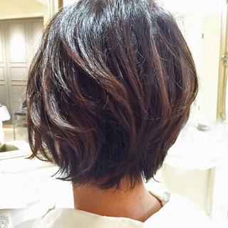ハイライト グラデーションカラー ショート コンサバ ヘアスタイルや髪型の写真・画像