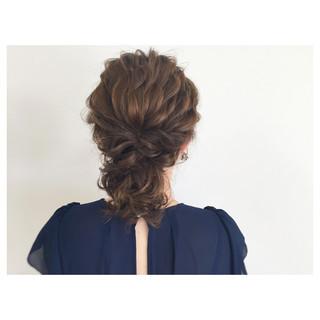 ヘアアレンジ 大人かわいい 結婚式 シニヨン ヘアスタイルや髪型の写真・画像