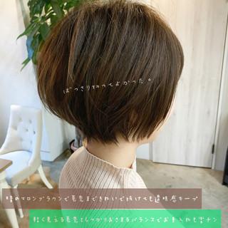 ハンサムショート デート ナチュラル ショート ヘアスタイルや髪型の写真・画像