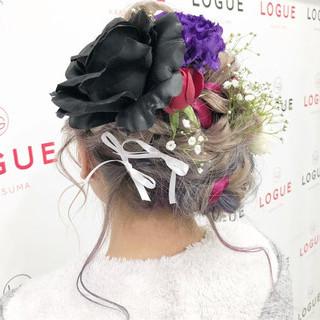 ロング ヘアアレンジ ガーリー 外国人風カラー ヘアスタイルや髪型の写真・画像