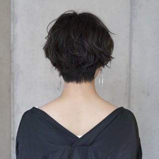 ショート ヘアアレンジ 透明感 ラフ ヘアスタイルや髪型の写真・画像