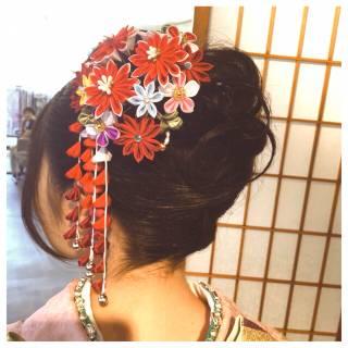 ナチュラル 黒髪 ガーリー ヘアアレンジ ヘアスタイルや髪型の写真・画像 ヘアスタイルや髪型の写真・画像