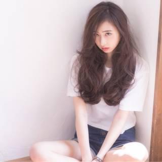 外国人風カラー 暗髪 パンク ロング ヘアスタイルや髪型の写真・画像 ヘアスタイルや髪型の写真・画像