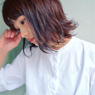 アウトドア ミディアム 大人かわいい オフィス ヘアスタイルや髪型の写真・画像