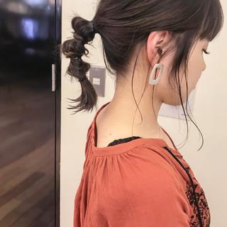 フェミニン 夏 エフォートレス ミディアム ヘアスタイルや髪型の写真・画像