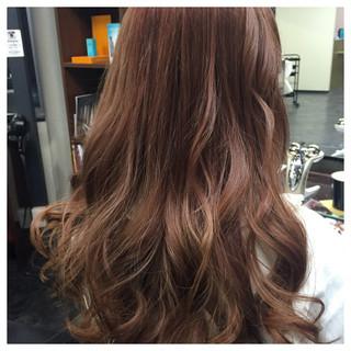ゆるふわ フェミニン ピンク 透明感 ヘアスタイルや髪型の写真・画像