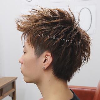 アップバング ナチュラル デート ハンサムショート ヘアスタイルや髪型の写真・画像
