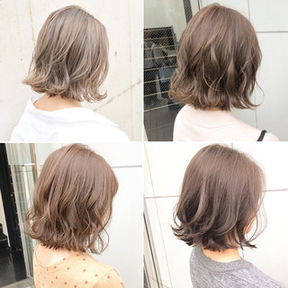 アンニュイほつれヘア ナチュラル ボブ パーマ ヘアスタイルや髪型の写真・画像