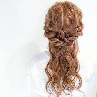 ヘアアレンジ ハーフアップ デート 簡単ヘアアレンジ ヘアスタイルや髪型の写真・画像