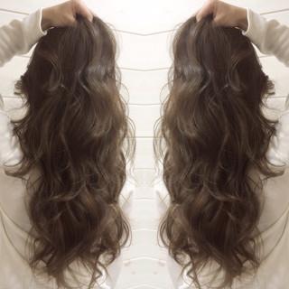 外国人風 コンサバ 暗髪 ロング ヘアスタイルや髪型の写真・画像