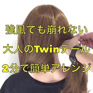 くるりんぱ セルフアレンジ 簡単ヘアアレンジ アップスタイル ヘアスタイルや髪型の写真・画像