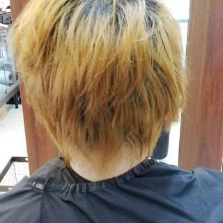 ナチュラル ショート スモーキーアッシュ メンズヘア ヘアスタイルや髪型の写真・画像