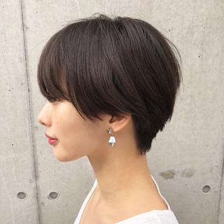 黒髪 ハンサムショート ショート マッシュショート ヘアスタイルや髪型の写真・画像