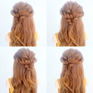 デート 女子会 簡単ヘアアレンジ ヘアアレンジ ヘアスタイルや髪型の写真・画像