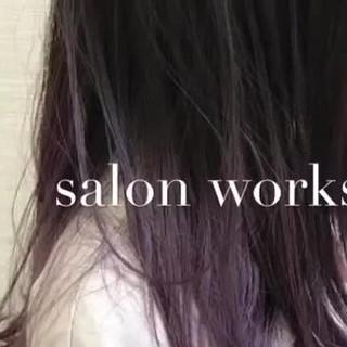 ミディアム グラデーションカラー ブリーチ ストリート ヘアスタイルや髪型の写真・画像