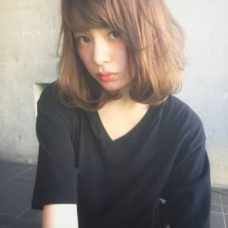 ゆるふわ ミディアム ストリート 外国人風 ヘアスタイルや髪型の写真・画像