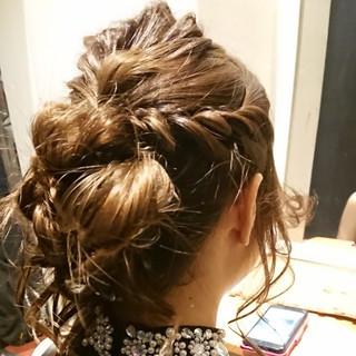 ヘアセット 大人女子 セミロング ナチュラル ヘアスタイルや髪型の写真・画像