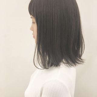 大人かわいい 秋 透明感 ミディアム ヘアスタイルや髪型の写真・画像