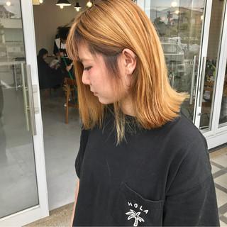 アウトドア ストリート グラデーションカラー 外ハネ ヘアスタイルや髪型の写真・画像