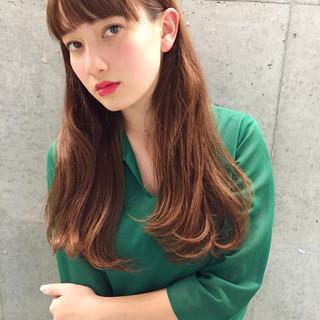 ロング 外国人風 前髪あり ストリート ヘアスタイルや髪型の写真・画像