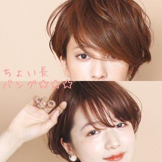 ショートヘア マッシュショート ショートボブ ふんわりショート ヘアスタイルや髪型の写真・画像