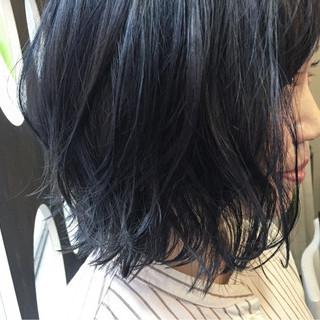 冬 ガーリー ブルージュ ボブ ヘアスタイルや髪型の写真・画像