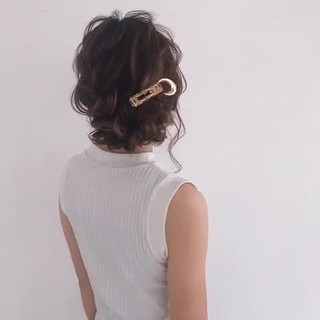 デート ヘアアレンジ 簡単ヘアアレンジ ミディアム ヘアスタイルや髪型の写真・画像