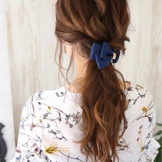 夏 ロング エレガント 上品 ヘアスタイルや髪型の写真・画像