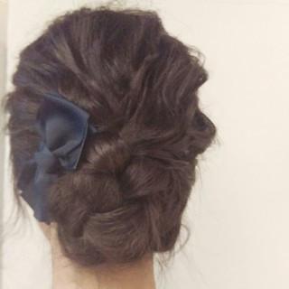 セミロング 簡単ヘアアレンジ ナチュラル アッシュ ヘアスタイルや髪型の写真・画像