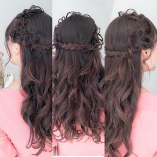 ガーリー セミロング 成人式 デート ヘアスタイルや髪型の写真・画像 ヘアスタイルや髪型の写真・画像