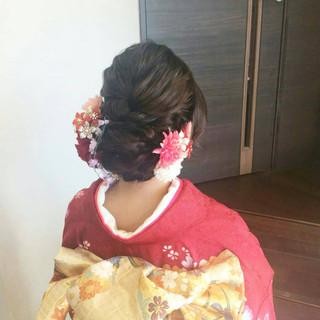 結婚式 結婚式ヘアアレンジ 成人式 ナチュラル ヘアスタイルや髪型の写真・画像