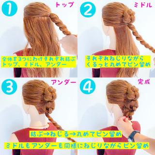 色気 フェミニン 女子会 簡単ヘアアレンジ ヘアスタイルや髪型の写真・画像