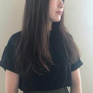 パーマ 透明感 秋 ロング ヘアスタイルや髪型の写真・画像