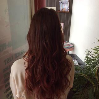 ロング グラデーションカラー ナチュラル ダブルカラー ヘアスタイルや髪型の写真・画像