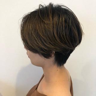 ママ イルミナカラー グレージュ 透明感 ヘアスタイルや髪型の写真・画像